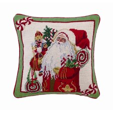 Lolly Jolly Christmas Decorative Wool / Cotton Pillow