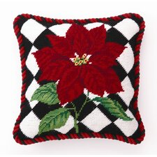 Poinsettia Diamonds Wool / Cotton Pillow