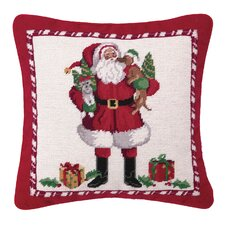 Christmas Puppies Needlepoint Pillow