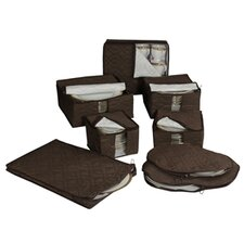Tabletop Micro Fiber 8-Piece Dinnerware Storage Set