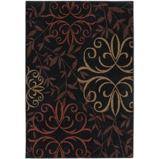 Four Seasons Josselin Black Rug