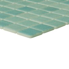 "Nieve 12-1/5"" x 18-1/10"" Glass Mosaic in Verde"