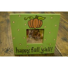 """Happy Fall Y'all"" Picture Frame"