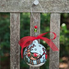 Reindeer and Sleigh Ball Ornament