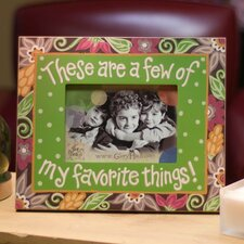 Favorite Things Floral Picture Frame