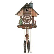 Cuckoo Clock with Chimney Sweep Pops out of Chimney