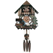 Musical Cuckoo Clock with Moving Waterwheel Tree Design