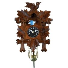 Quartz Novelty Clock with Five Leaves and One Bird Design