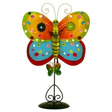Metal Butterfly Clock with Removable Stand