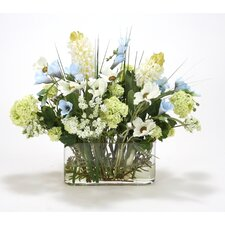 Waterlook Mixed Silk Garden Flowers in Vase