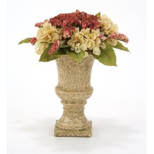 Silk Victorian Bouquet in Urn