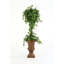 Silk Ivy Ball Topiary in Sleek Classic Urn