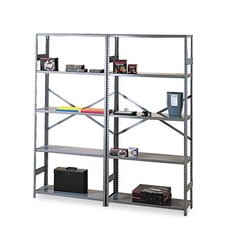 Commercial Steel Shelving, 6 Shelves, 36W X 18D X 75H