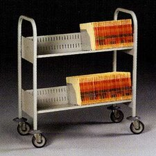 Filing Cart, 4 Extra Deep Shelves
