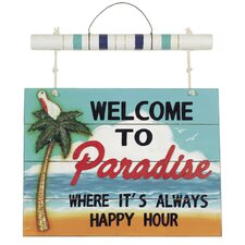 """Welcome to Paradise"" Sign"