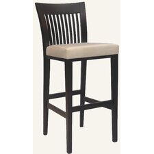 Designer Mason Solid Hardwood Stationary Bar Stool