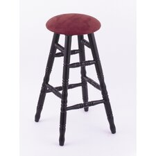 Domestic Hardwood Round Cushion Swivel Stool