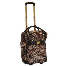 Animal Print 18'' 2 Wheeled Rolling Weekender Duffel