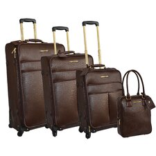 Saffiano 4 Piece Luggage Set