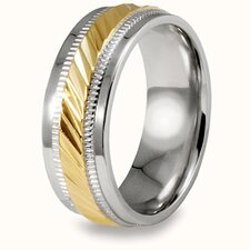 Stainless Steel Beveled-edge Band Ring
