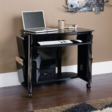 Chroma Computer Cart in Black and Chrome