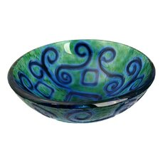 Mosaic Earth Vessel Bathroom Sink