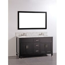 "60"" Solid Wood Bathroom Vanity Set"