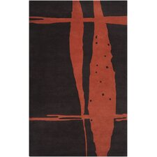Signature Black/Rust Rug