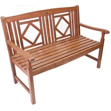 Diamond Wood Garden Bench