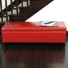 York Bonded Leather Storage Ottoman Bench