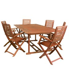 Lakeside 7 Piece Outdoor Wood Dining Set