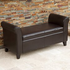 Torino Leather Armed Storage Ottoman
