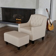 Elaine Tufted Club Chair and Ottoman