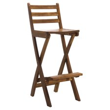 Tundra Foldable Outdoor Wood Barstool