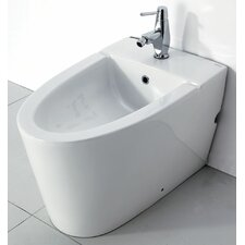 Floor Mount Bathroom Bidet with Elongated Seat