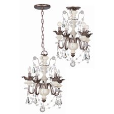 Malibu 4 Light Convertible Foyer Pendant