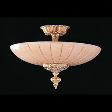 Bravado Alabaster 3 Light Semi Flush Mount