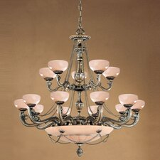 Bravado Alabaster 20 Light Chandelier