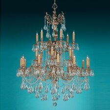 Olde World 25 Light Candle Chandelier
