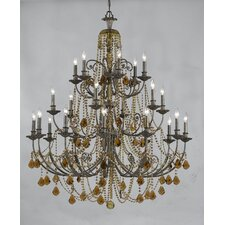 Traditional Classic 20 Light Crystal Candle Chandelier