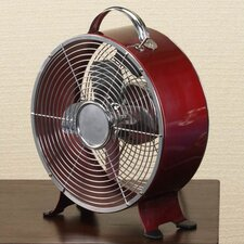 Retro Metal Box Desk Fan in Merlot