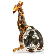 Giraffe Figurine Table Top Fan