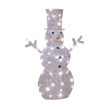 Starry Night LED Lighted Snowman