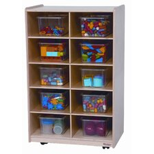 Ten Tray Folding Vertical Storage Unit