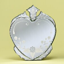 Heart Venetian Table Mirror