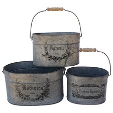 French Oval Bucket (Set of 3)