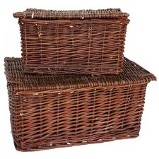 Covered Basket (Set of 2)