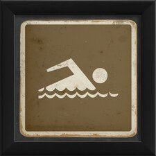 Swimming Sign Framed Art