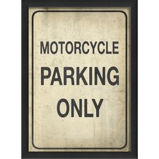 Motorcycle Parking Only II Wall Art