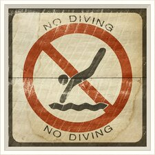 No Diving Sign Wall Art